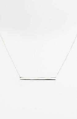 Argento Vivo  - Bar Pendant Necklace