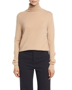 Vince - Cropped Cashmere Turtleneck Sweater