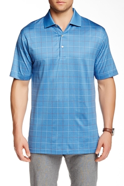 Peter Millar  - Fairfield Windowpane Knit Polo Shirt