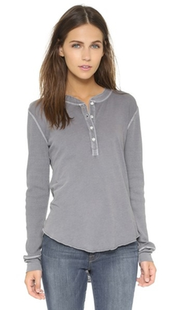 NSF - Hal Henley Long Sleeve Tee Shirt