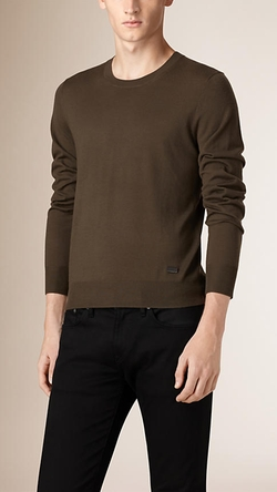 Burberry - Crew Neck Merino Wool Sweater