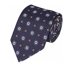 Bigi  - Medallion Faille Necktie