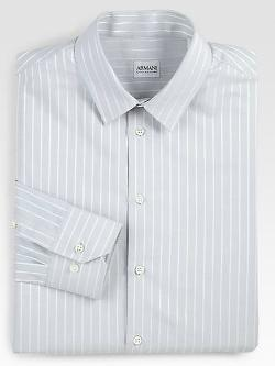Armani Collezioni  - Striped Cotton Dress Shirt