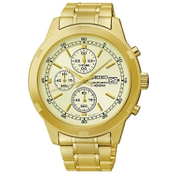 Seiko - Chronograph Gold Dial Mens Watch