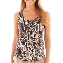JC Penny - Zebra Print Linen Tank Top