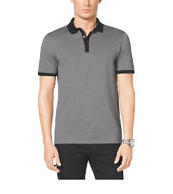 Michael Kors Men - Contrast-Trim Cotton-Pique Polo Shirt
