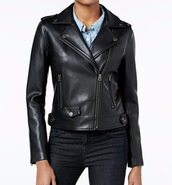 Lucky Brand - Faux-Leather Moto Jacket