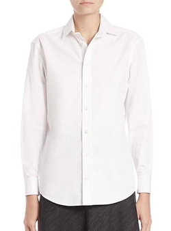 Ralph Lauren  - Charmain Cotton Button-Down Shirt
