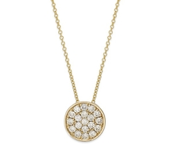 Trio By Effy  - Diamond Disc Pendant Necklace