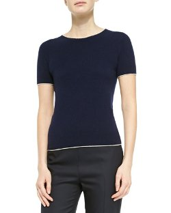 The Row - Cashmere Short-Sleeve Sweater