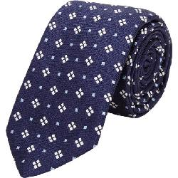 BARNEYS NEW YORK  - Diamond And Box-Pattern Neck Tie