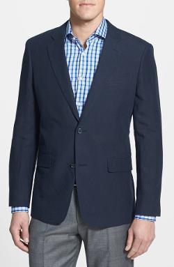Nordstrom  - Regular Fit Linen Blazer