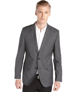 Hugo Boss  - Micro Striped Wool Two Button Blazer