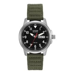 Citizen - Eco-Drive Mens Military Green Watch