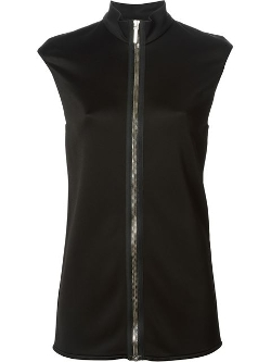 Anthony Vaccarello - Band Collar Zipped Gilet Vest