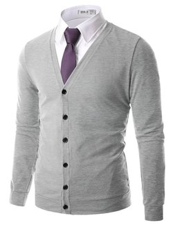 Doublju - V-Neck Cardigan Sweater