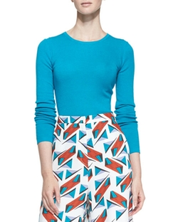Carolina Herrera  - Long-Sleeve Crewneck Sweater