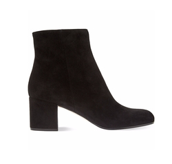 Gianvito Rossi - Margaux Suede Block Heel Ankle Boots