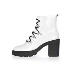 Topshop - Motor Heeled Hiker Boots