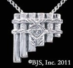 Killer King Chronicle Jewelry - Eolian Talent Pipes Back Hanging Necklace