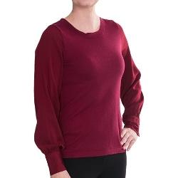 Lilla P - Woven Full Sleeve Sweater