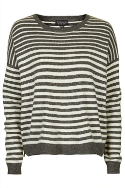 Topshop - Graduated Stripe Slouch Sweat