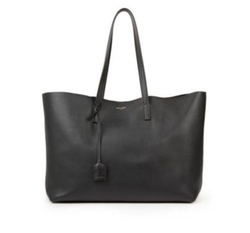 Saint Laurent - Large Smooth Leather Shopping Tote Bag