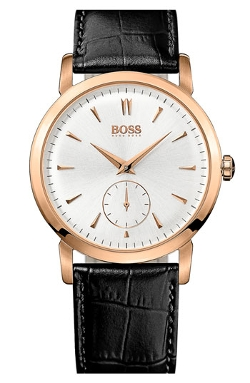 Boss Hugo Boss - Round Leather Strap Watch