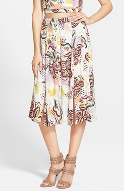 ASTR  - Button Front Midi Skirt