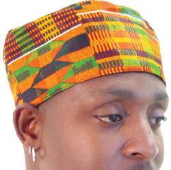 African Inspired Fashions K - Kente Pattern Kufi Kofi Hat Cap