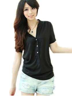 Trurendi - Womens Casual Button Down Blouses