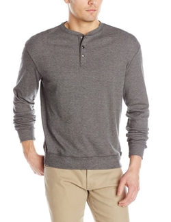 Haggar - Long-Sleeve Henley Shirt