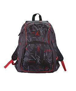 Jordan - Boys Black & Red Print Backpack