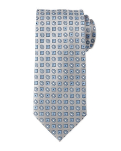 Brioni - Circle And Square Medallion Tie