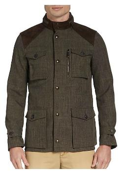 Burberry London - Suede-Trimmed Tweed Field Anorak