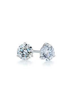 Kwiat - Diamond & Platinum Stud Earrings