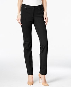 Alfani - Zip-Pocket Slim-Leg Trousers