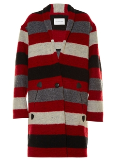 Isabel Marant Étoile   - Gabrie Blanket Striped Coat