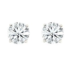 Affinity - Round Diamond Stud Earrings