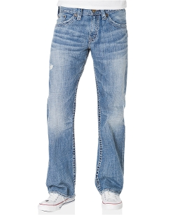 Silver Jeans Denim - Zac Straight-Leg Light Wash Jeans