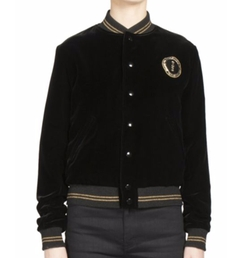 Saint Laurent - Palladium Velvet Bomber Jacket