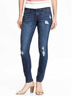 Old Navy - Low-Rise Rockstar Destructed Skinny Jeans
