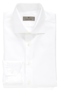 Canali - Regular Fit Solid Dress Shirt