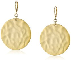 Kenneth Cole New York  - Hammered Gold-Tone Drop Earrings