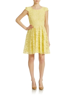 Betsey Johnson  - Lace Fit and Flare Dress