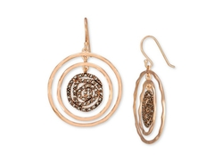 Genevieve & Grace - Marcasite Circle Drop Earrings