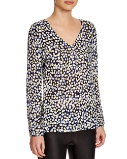 Dylan Gray  - Silk V-Neck Blouse
