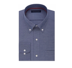 Tommy Hilfiger - Classic-Fit Indigo Twill Dress Shirt