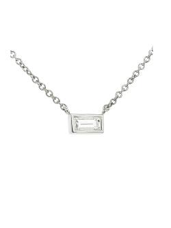 Finn - Single Baguette Diamond Necklace