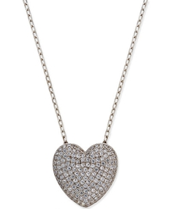 Giani Bernini  - Cubic Zirconia Pavé Heart Pendant Necklace